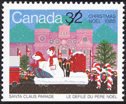 Christmas, Santa Claus Parade Canadian Postage Stamp Series