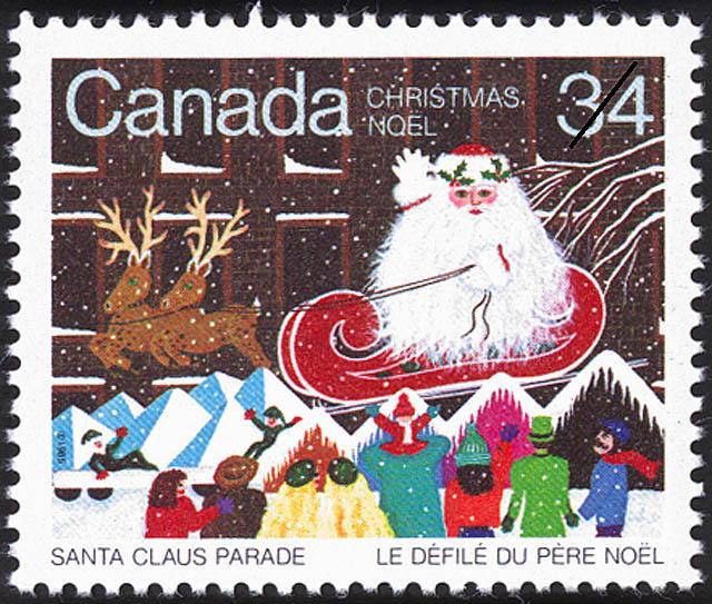 Santa Claus Parade Canada Postage Stamp