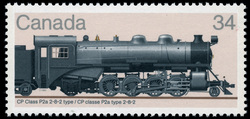 CP Class P2a 2-8-2 Type Canada Postage Stamp | Canadian Locomotives, 1906-1925