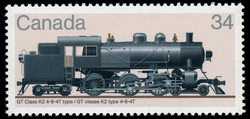 GT Class K2 4-6-4T Type Canada Postage Stamp | Canadian Locomotives, 1906-1925