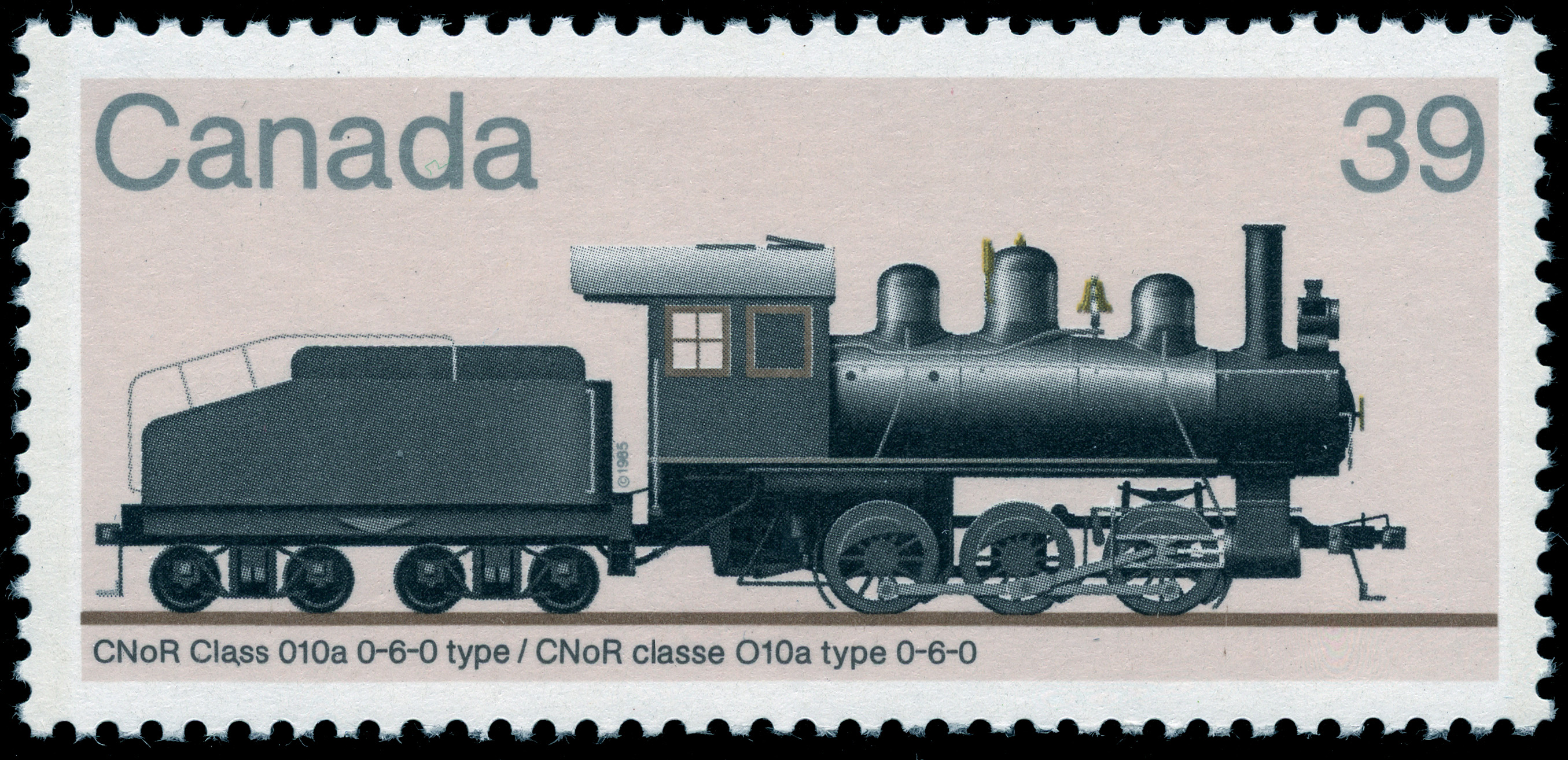 CNoR Class 010a 0-6-0 Type Canada Postage Stamp