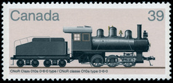 CNoR Class 010a 0-6-0 Type Canada Postage Stamp | Canadian Locomotives, 1906-1925