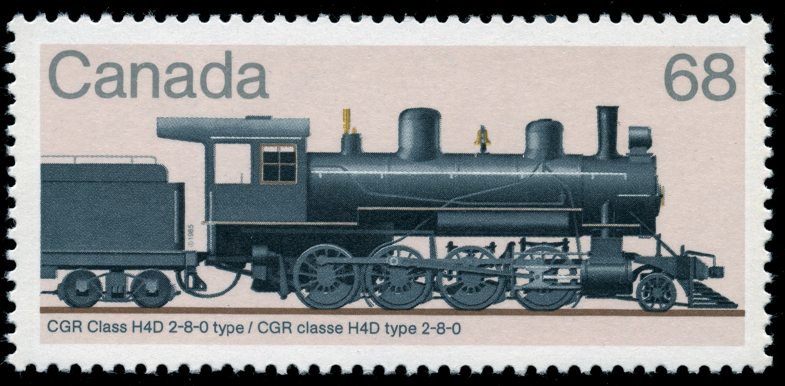 CGR Class H4D 2-8-0 Type Canada Postage Stamp