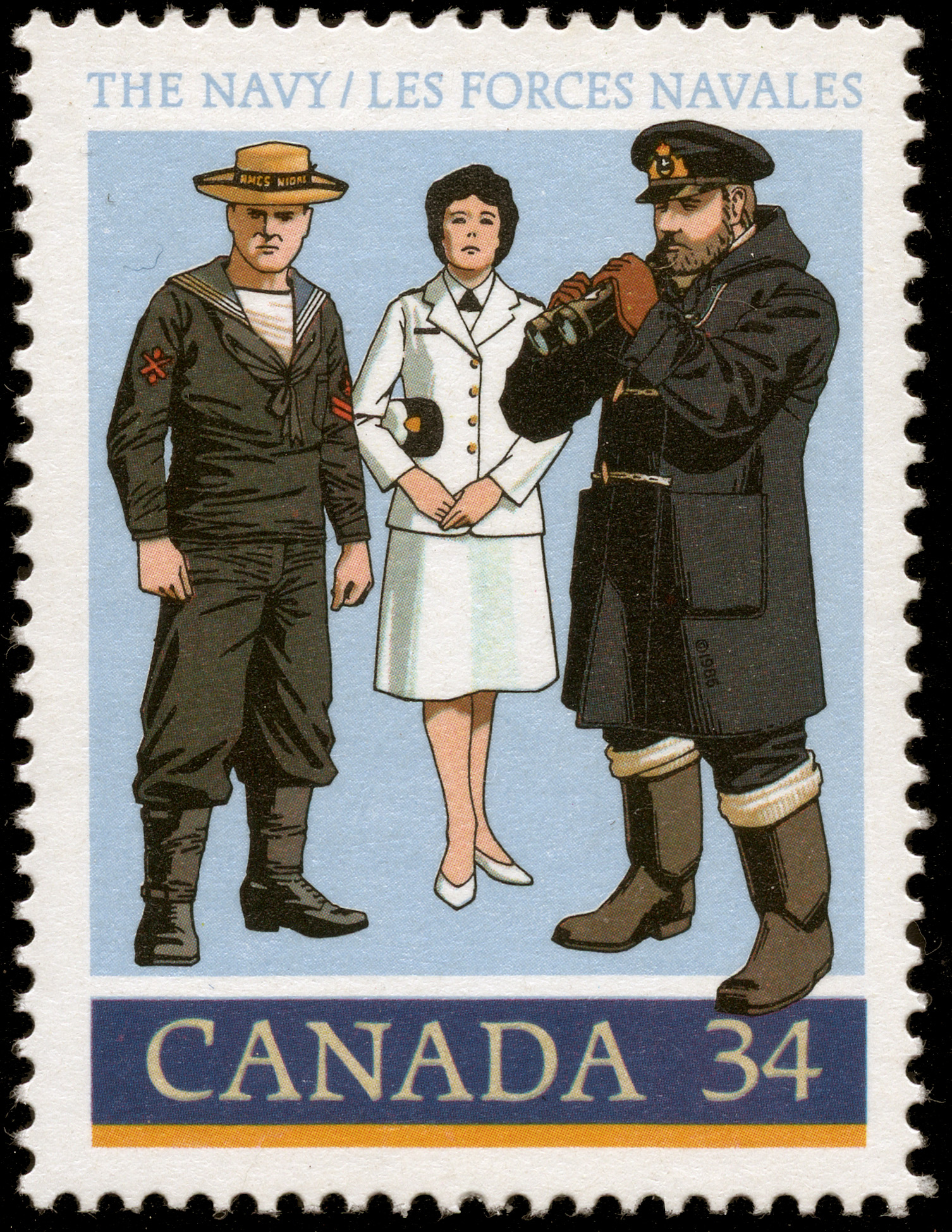 The Navy Canada Postage Stamp