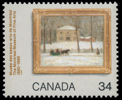 The Montreal Museum of Fine Arts, 1860-1985, The Old Holton House, Montreal Canada Postage Stamp