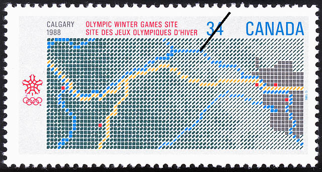 Olympic Winter Games Site, Calgary, 1988 Canada Postage Stamp