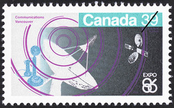Communications, Vancouver Canada Postage Stamp | Expo 86