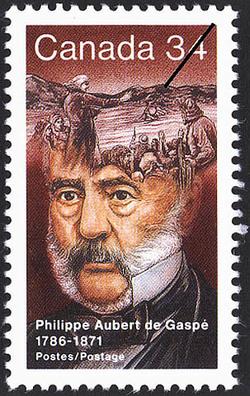 Philippe Aubert de Gaspe, 1786-1871 Canada Postage Stamp