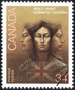 Molly Brant, Koñwatsi'tsiaieñni Canada Postage Stamp
