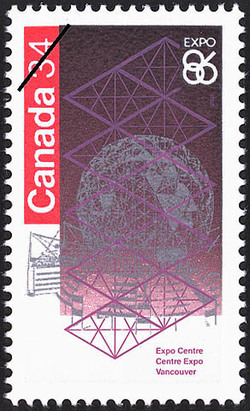Expo Centre, Vancouver Canada Postage Stamp | Expo 86