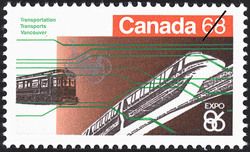 Transportation, Vancouver Canada Postage Stamp | Expo 86