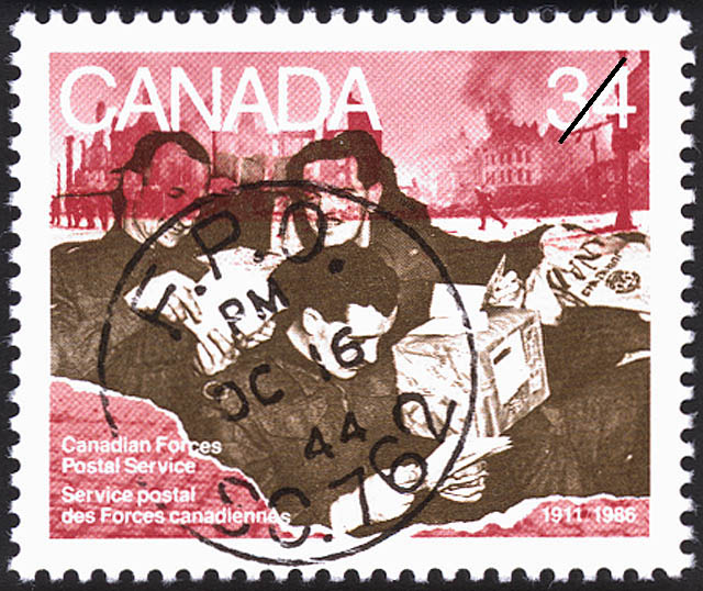 Canadian Forces Postal Service, 1911-1986 Canada Postage Stamp