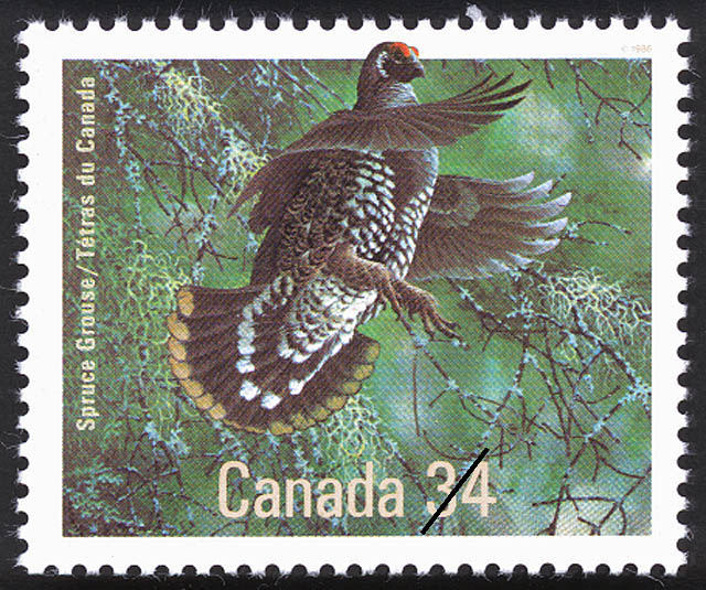 Spruce Grouse Canada Postage Stamp | Birds of Canada