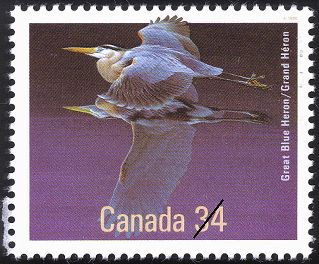 Great Blue Heron Canada Postage Stamp