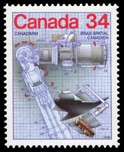 Canadarm Canada Postage Stamp | Canada Day - Science and Technology, Canadian Innovations in Transportation