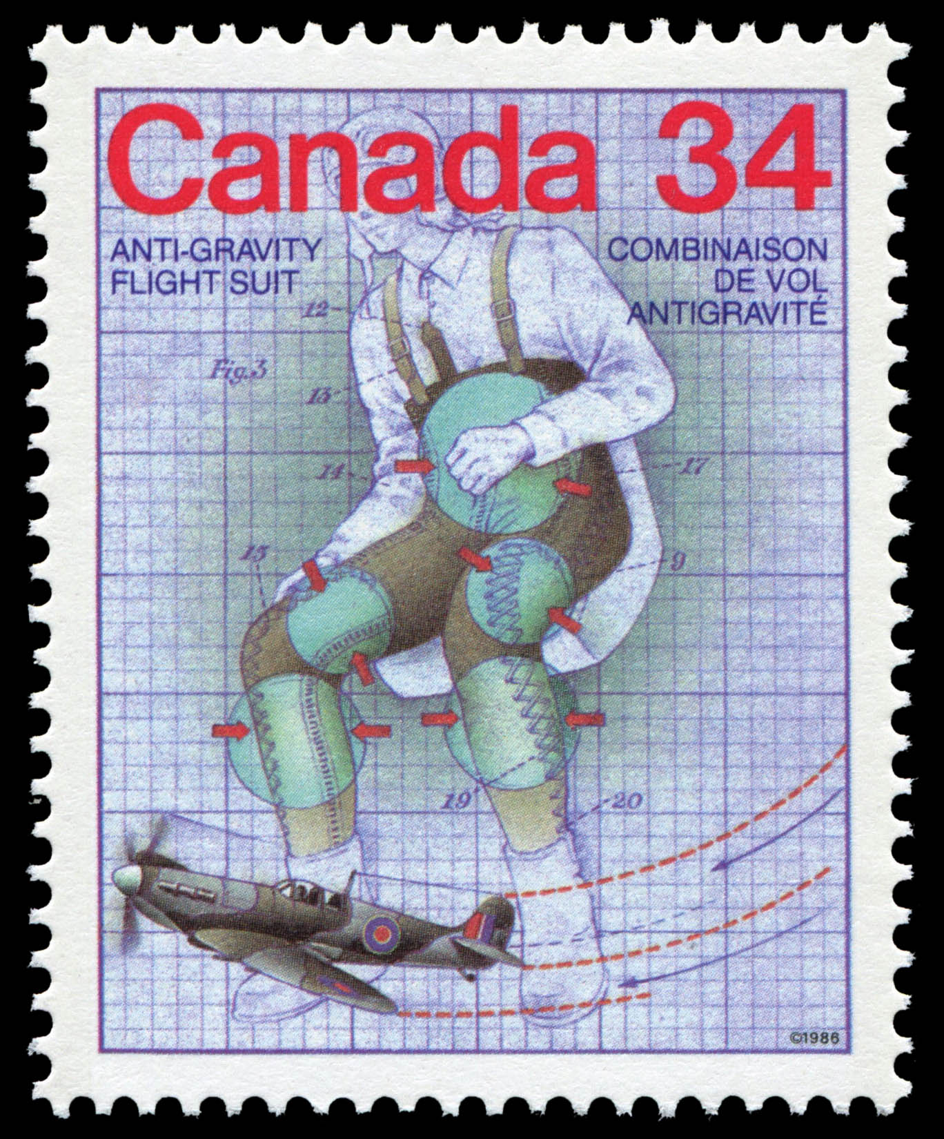 Anti-Gravity Flight Suit Canada Postage Stamp