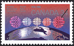 Canadian Broadcasting Corporation, 1936-1986 Canada Postage Stamp