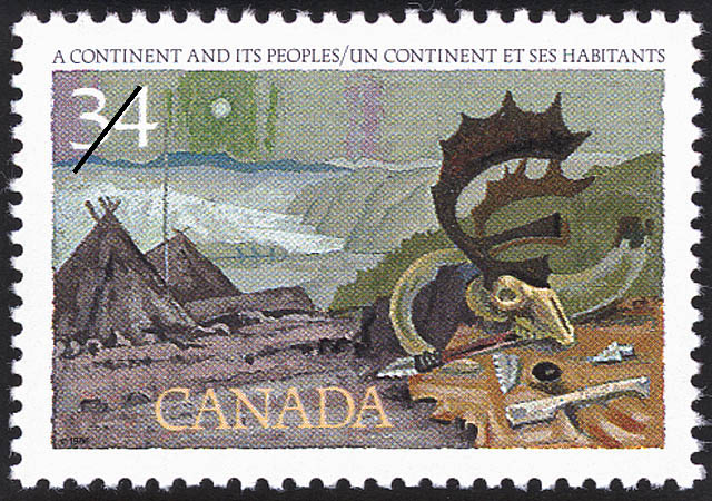 A Continent and Its Peoples Canada Postage Stamp