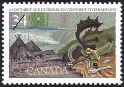 A Continent and Its Peoples Canada Postage Stamp | Exploration of Canada, Discoverers