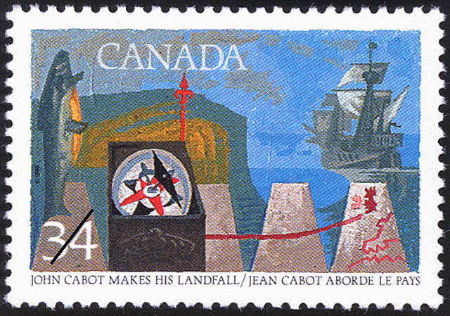 John Cabot makes his Landfall Canada Postage Stamp