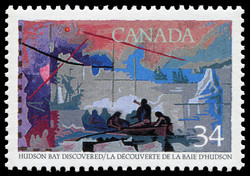 Hudson Bay discovered Canada Postage Stamp | Exploration of Canada, Discoverers