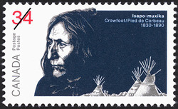 Crowfoot (Isapo-muxika) Canada Postage Stamp | The Peacemakers