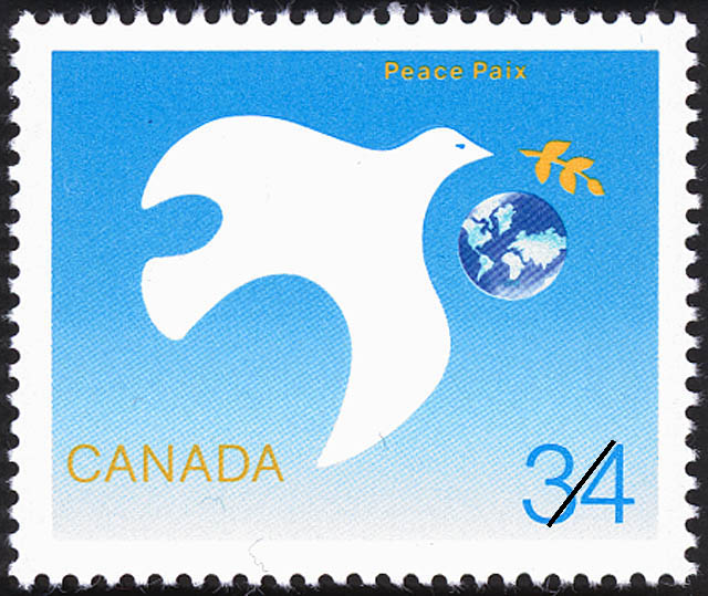 Peace Canada Postage Stamp