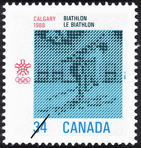 Biathlon, Calgary, 1988 Canada Postage Stamp | 1988 Olympic Winter Games