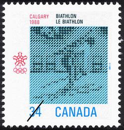 Biathlon, Calgary, 1988 Canada Postage Stamp | 1988 Olympic Winter Games