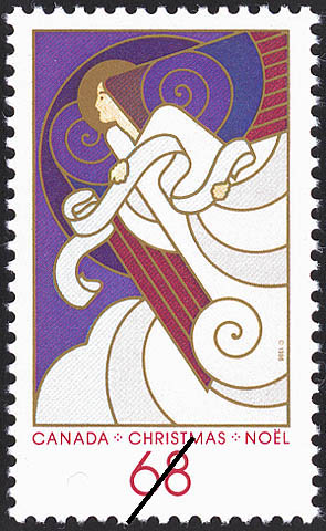 Angel with Sheet Music Canada Postage Stamp