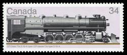 CP Class T1a 2-10-4 Type Canada Postage Stamp | Canadian Locomotives, 1925-1945