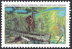 Brule nears Lake Superior Canada Postage Stamp | Exploration of Canada, Investigators