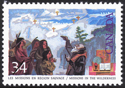 Missions in the Wilderness Canada Postage Stamp