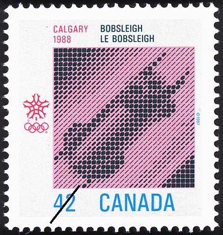 Bobsleigh, Calgary, 1988 Canada Postage Stamp
