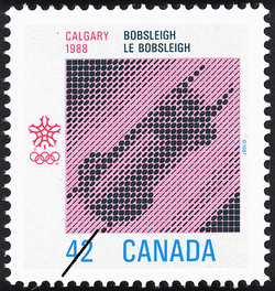 Bobsleigh, Calgary, 1988 Canada Postage Stamp | 1988 Olympic Winter Games