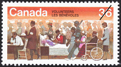 Volunteers Canada Postage Stamp