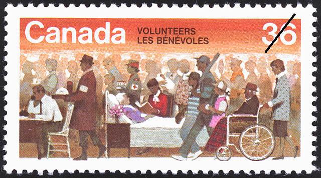 Volunteers Canada Postage Stamp