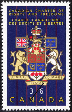 Canadian Charter of Rights and Freedoms Canada Postage Stamp
