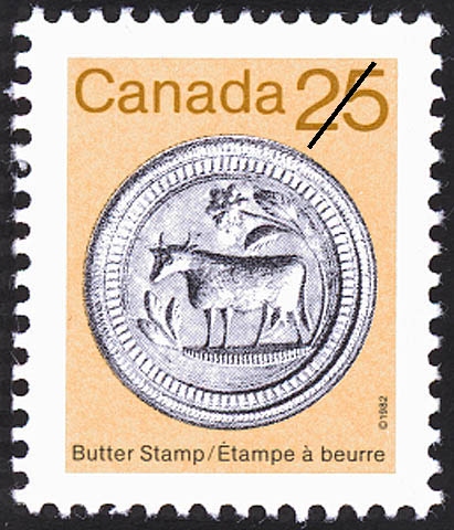 Butter Stamp Canada Postage Stamp