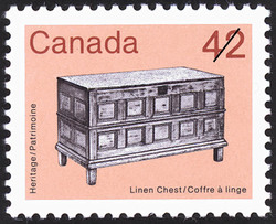 Linen Chest Canada Postage Stamp | Heritage Artifacts