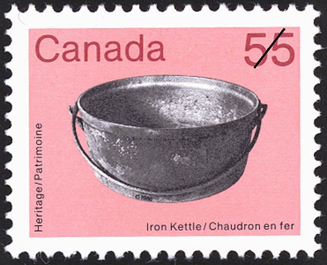 Iron Kettle Canada Postage Stamp | Heritage Artifacts