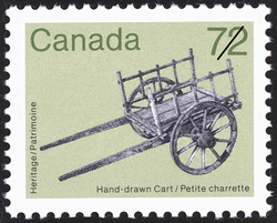 Hand-drawn Cart Canada Postage Stamp