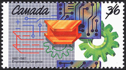 Engineering, 1887-1987 Canada Postage Stamp