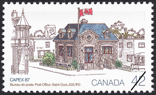 Post Office, Saint-Ours, J0G 1P0 Canada Postage Stamp | CAPEX 87