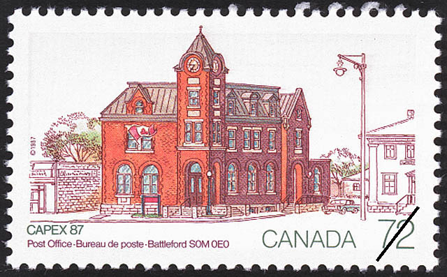 Post Office, Battleford, S0M 0E0 Canada Postage Stamp