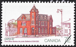 Post Office, Battleford, S0M 0E0  Postage Stamp