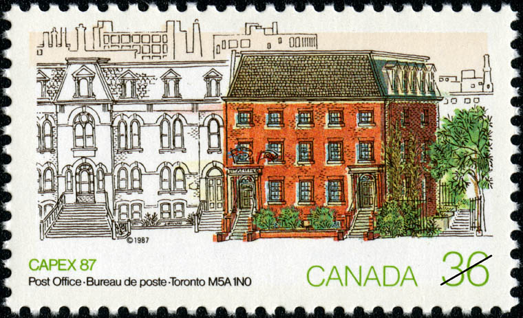 Post Office, Toronto, M5A 1N0 Canada Postage Stamp