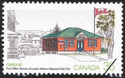 Post Office, Nelson-Miramichi, E0C 1T0 Canada Postage Stamp | CAPEX 87