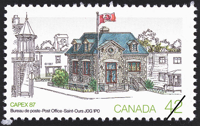 Post Office, Saint-Ours, J0G 1P0 Canada Postage Stamp