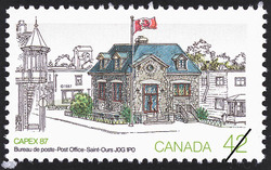 Post Office, Saint-Ours, J0G 1P0  Postage Stamp